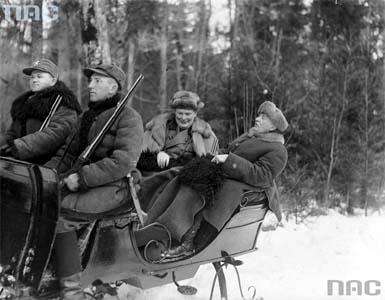 Hermann Göring, Ignacy Mościcki, polowanie reprezentacyjne, łowy, Białowieża, Puszcza Białowieska, okres międzywojenny, dwudziestolecie międzywojenne