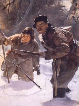Oszczepnicy, Julian Fałat, 1890